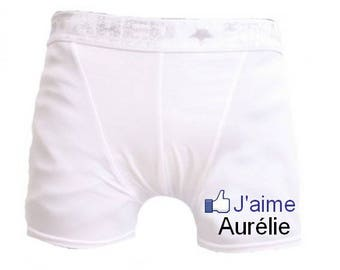 White men underwear I aime.personnalise with name