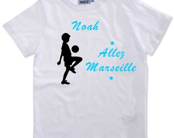 T-shirt boy go Marseille personalized with name