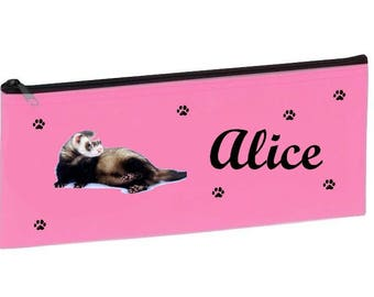 Personalized with name pink school ferret Kit