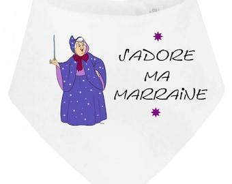 Baby bandana bib I love my godmother