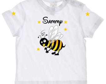 Baby Bee personalized with name t-shirt