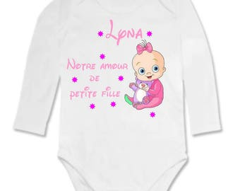 Our little girl love personalized with name Bodysuit