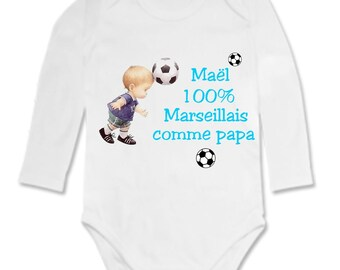 Onesie 100% Marseille as... personalized with name