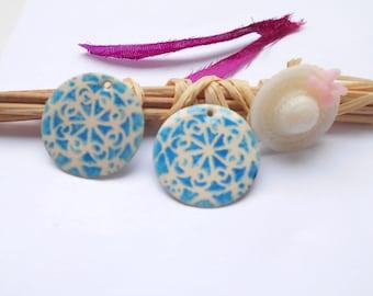 x 4 ivory blue sequins