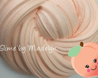 Peach Scented Fluffy Slime ~ fluffy slime ~ Scented slime ~ Fruit scented slime