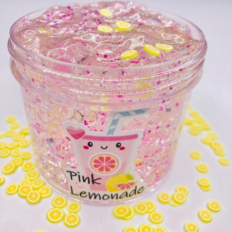 Pink Lemonade Scented Fishbowl Slime  charm slime  fishbowl image 0
