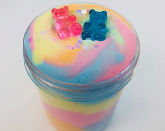 Yummy Gummy Butter Slime ~ Butter Slime - Scented slime ~ Charm slime