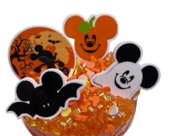 Mickey's not so scary Bingsu slime ~ Halloween Slime ~ Bingsu Bead Slime ~ Crunchy Slime ~ charm slime