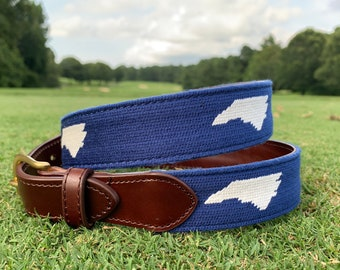 Belt needlepoint women/'s  young adult hand stitched cotton candy herringbone pattern belt  #shopforacause