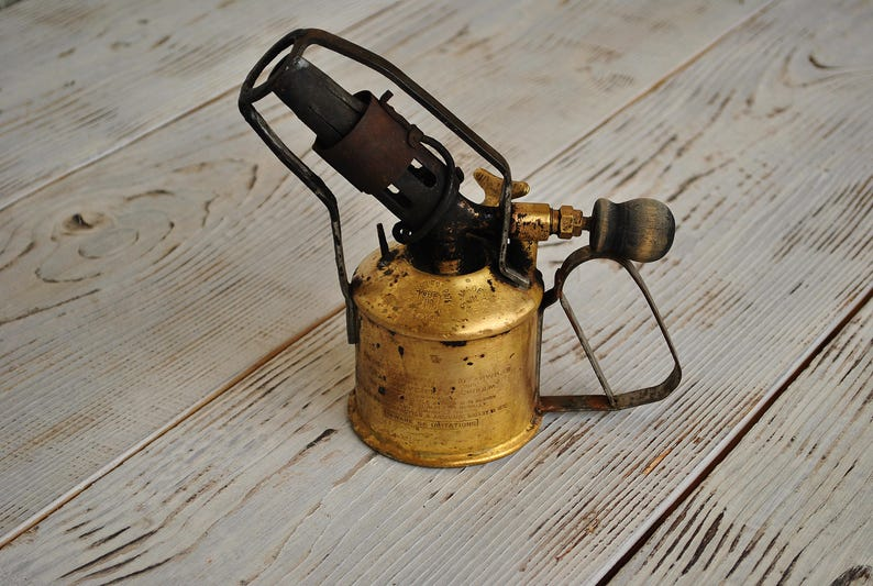 Brass Blow Torch MAX SIEVERT STOCKHOLM  Made in Sweden in the 1950-s Great  Vintage Condition Blow Lamp Made in Sweden
