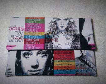 "Laptop sleeve 13 inch, Computer case ,  ""Fashion magazines"" printed fabric"