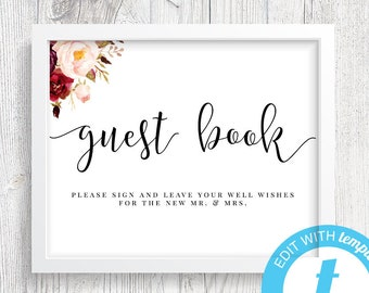 guest book sign etsy