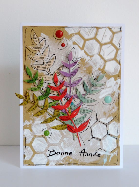 Happy New Year Card Handmade Card Greeting Card 2019 Etsy