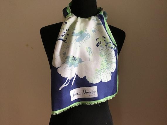 Jean Desses, vintage scarf, silk