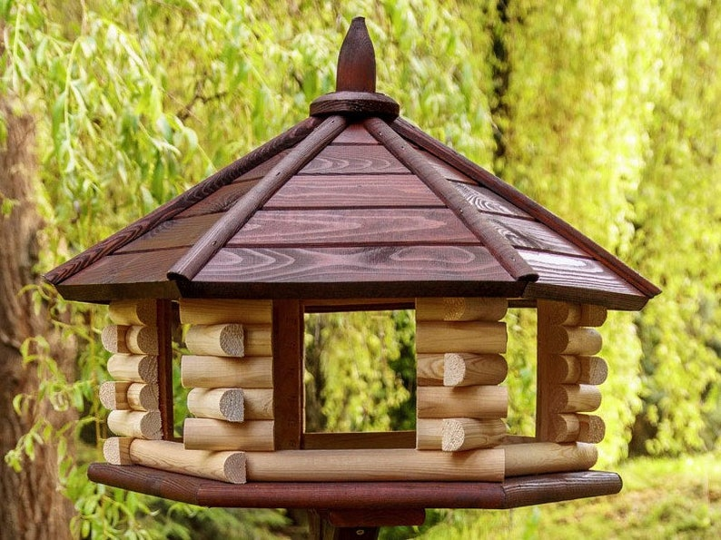 Stupendous Brand New Exclusive Large Wooden Bird Table House Feederhouse With Stand Home Interior And Landscaping Ferensignezvosmurscom