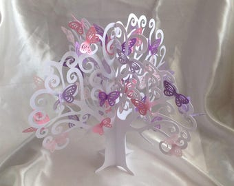 Table centerpiece tree with butterflies