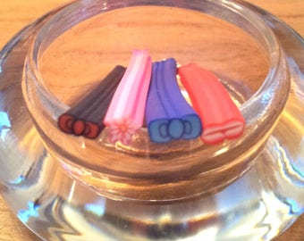 Set of 4 5 cm - various T7 polymer clay canes