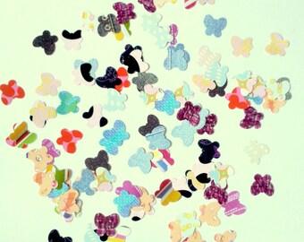 Set of 100 confetti butterflies - fancy paper - B - T8