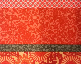 Taupe and red floral paper napkin