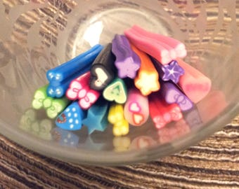 Set of 16 5 cm - various T24 polymer clay canes