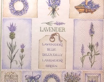 Lavender napkin - plants - nature