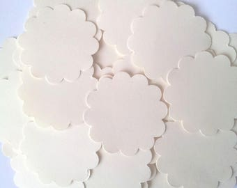 40 round labels in Bristol Board-unbleached - diameter 3.5 cm