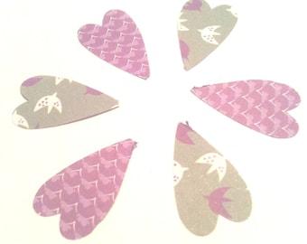 set of 50 hearts paper fancy 2