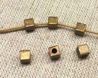 Set of 15 silver metal beads bronze T27