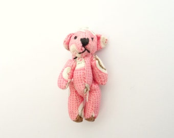 Mini light pink and white, Pooh bear fabric