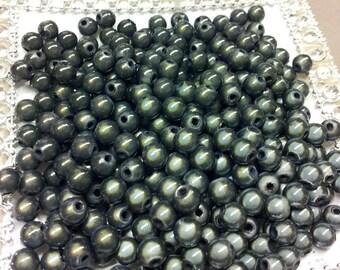 50 charcoal magic beads T25