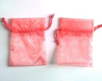sleeves 15 - pink - ORGANZA - 7 X 10 CM T3