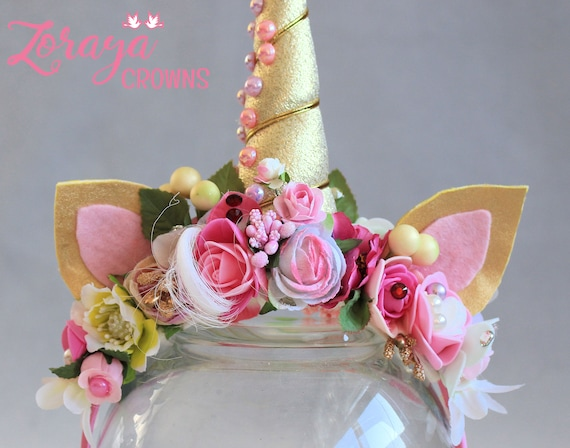 Unicorn headband,baby unicorn headband,unicorn birthday,unicorn flower headband,unicorn horn,baby photo prop,Girls Prop,baby girl headband