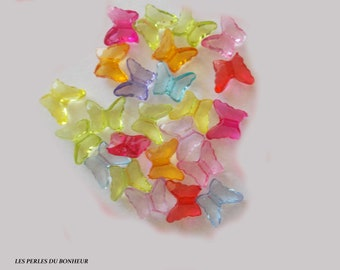 set of 10 Butterfly beads