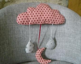 cushion cloud mobile Japanese motifs