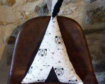 teepee patterns panda pillow