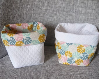 baskets for storage, graphics, pastel colors