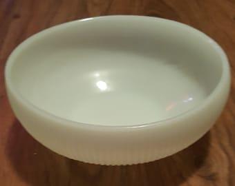 Vintage E.O. Brody Co. Ribbed milk glass bowl, vintage milk glass, vintage American made milk glass bowl, vintage kitchen decor