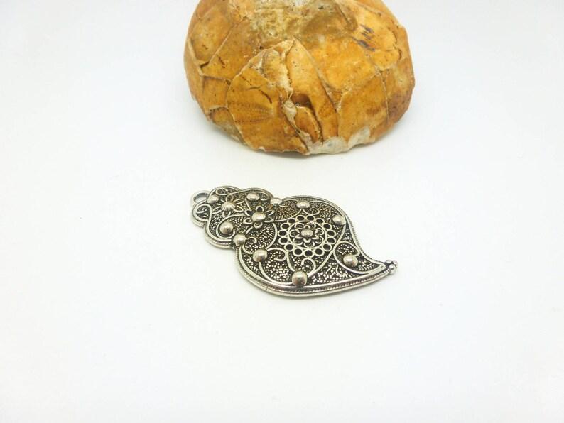 44 * 25mm antique silver XBA11-D right 1 pendant Art Deco