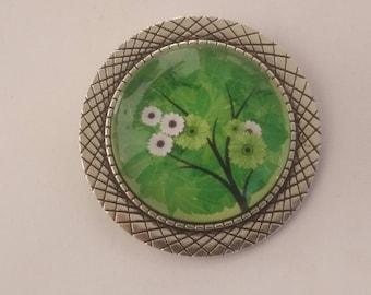 "Brooch ""Floral tree"" pattern 2"