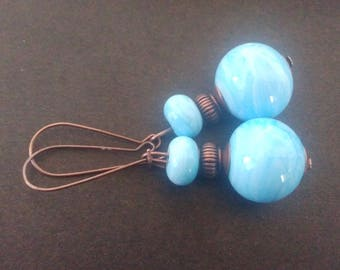 Earrings in ivory blue - available in various colors