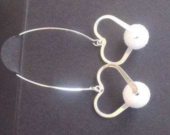 Sweet silver hearts on beads