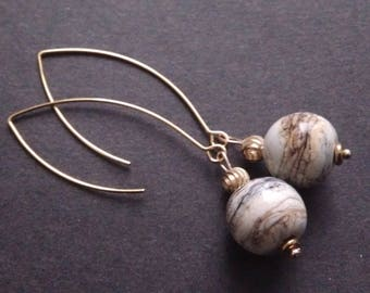Ivory and gold earrings