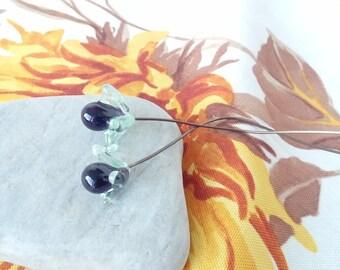 2 starry flowers - glass Lampwork