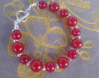 Passionately red jade bracelet