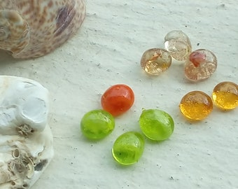 To order: set of 10 glass cabochons spun to order