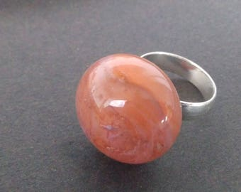 Caramel and gold ring