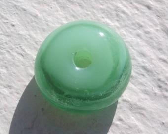 Pearl glass Lampwork disc