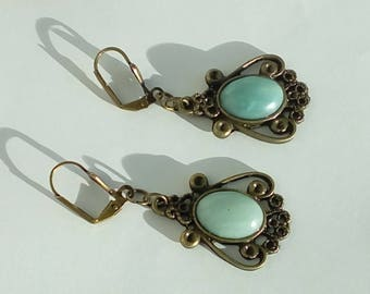 Amazonite earrings - matched to the pendant