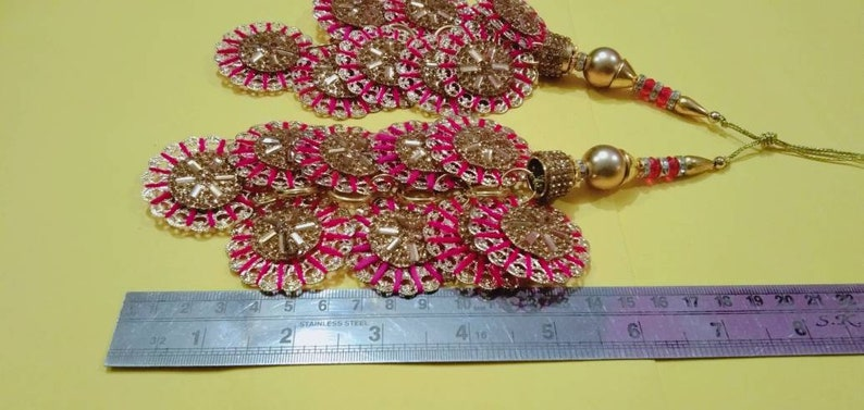 golden red tassels dress tassels handbag decoration beaded tassels cloth tassels jewelry tassel banjara tassel-price for 02 pieces-NFT04