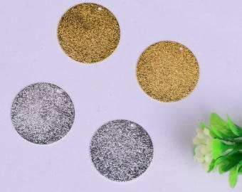 10 charms, brilliant iridescent round (5 color Gold Silver 5) 10mm